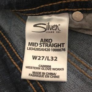 Silver Aiko 27x32 Jeans